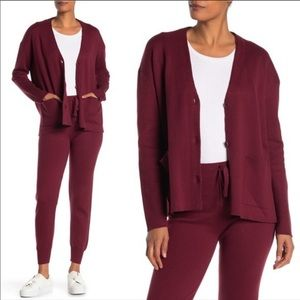 Michael Stars Wine Milano Dolman Sweater Cardigan